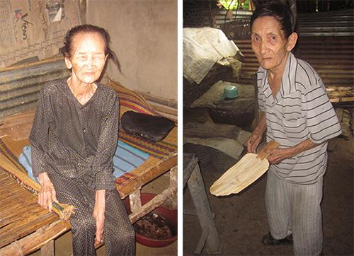 Chị em bà Nguyễn Thị Thẩm và ông Nguyễn Cẩm.