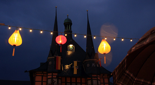 Thousands of Hoi An lanterns were transported to Germany to decorate the ancient quarter of Wernigerode city and make it to be like a Hoi An ancient town.