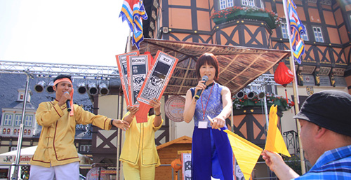 The people of  Wernigerode city and international tourist happily enjoyed the Bai Choi game.
