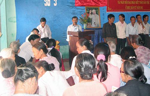 Một buổi họp dân ở tổ đoàn kết (ảnh mang tính minh họa). Ảnh: H.T
