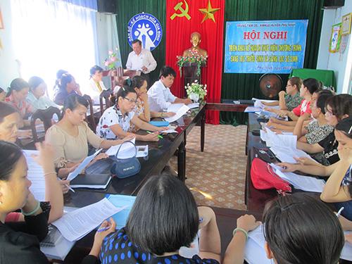 Hội nghị triển khai kế hoạch thực hiện chương trình sàng lọc trước sinh và sàng lọc sơ sinh.