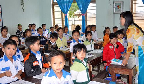 Việc dạy và học của năm học mới 2013-2014 đã đi vào nền nếp. Ảnh: XUÂN PHÚ