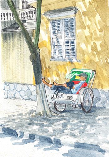 Sleeping cyclo.