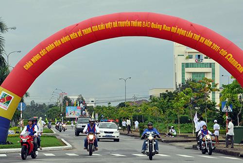 Giải Việt dã truyền thống Báo Quảng Nam những năm gần đây đã trở thành sân chơi chuyên nghiệp dành cho các đội tuyển tỉnh, thành phố trong cả nước.Ảnh: T.VY