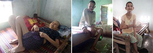 Bà Mại, anh Tiền, chị Én đều bị bệnh hiểm nghèo.