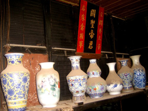 Chinese ceramic vases found  in Cham Island (Hoi An city).