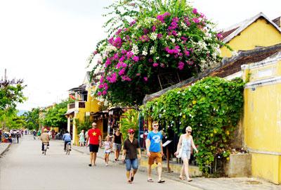 """Những năm gần đây, """"mùa thấp điểm"""" của du lịch Quảng Nam đã không còn rõ nét. Ảnh: PHƯƠNG THẢO"""