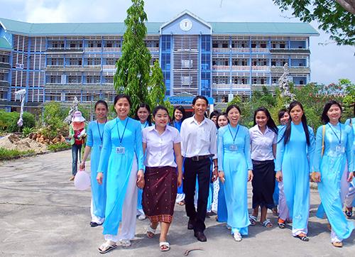 Sinh viên trường Đại học Quảng Nam. Ảnh: Minh Hải.