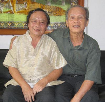 Tác giả cùng thầy Phan Ngọc Thu và thầy Quảng Bá Hùng.