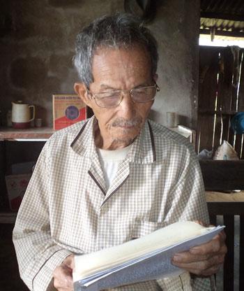 """Cụ Đỗ Hoàng - """"pho sử sống"""" về nguồn gốc, lịch sử vùng đất Đại Sơn."""