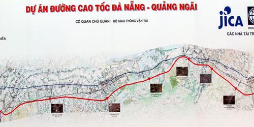 Map of the Da Nang-Quang Ngai Expressway