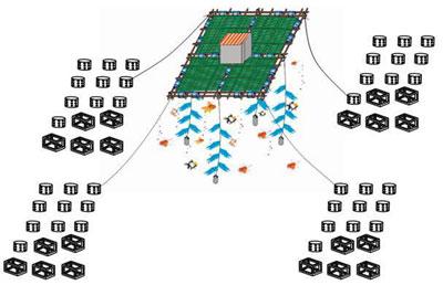 Mô hình chà – rạn nhân tạo được ứng dụng tại biển Bàn Than. Ảnh: N.Q.V