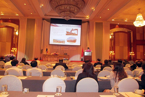 Overview of the Forum on Investment Promotion into Quang Nam held in Thailand.