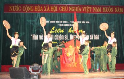 """Tiết mục """"Giải phóng Điện Biên"""" của Lữ đoàn Công binh 270, Quân khu 5."""
