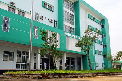 Khoa Phụ sản, Bệnh viện Đa khoa tỉnh Quảng Nam mới được đưa vào sử dụng nhưng nhà vệ sinh đã xuống cấp.