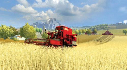 Thu hoạch lúa mì ở Mỹ.