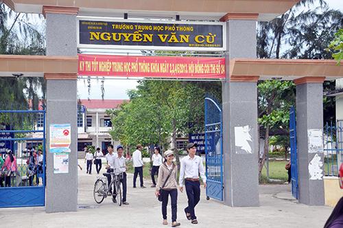Trường THPT Nguyễn Văn Cừ.
