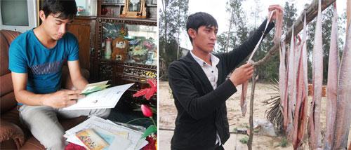 Vỡ mộng du học về nước tháng 8.2013, em Võ Văn Trung (trái) và Trần Văn Thiên chưa định hướng được tương lai sắp tới.Ảnh: VĂN HÀO