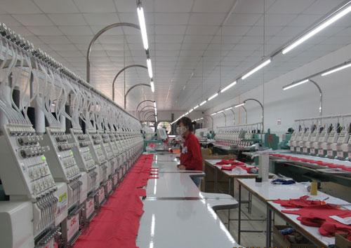 Nhà máy may gia công của Công ty TNHH LD May Như Thành tại Cụm công nghiệp Trảng Tôn.