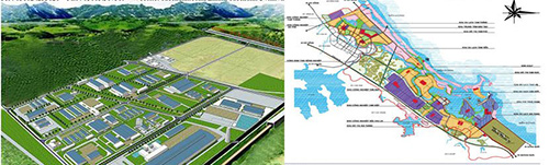 Diagrams of The North Chu Lai Industrial Zone and The Chu Lai Open Economic Zone