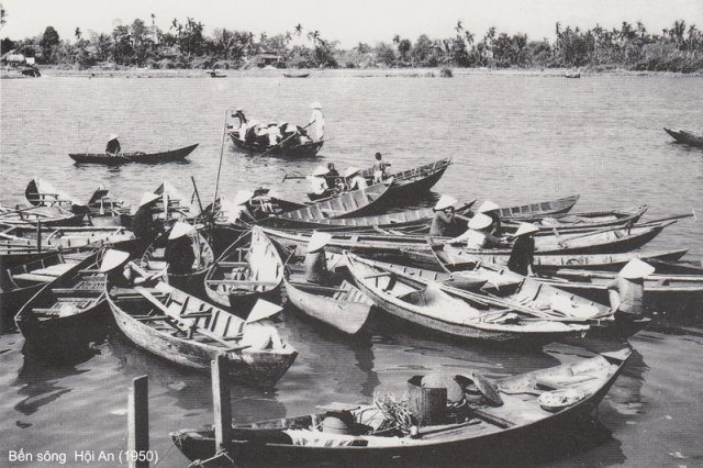 Hoi An river shore in 1950.