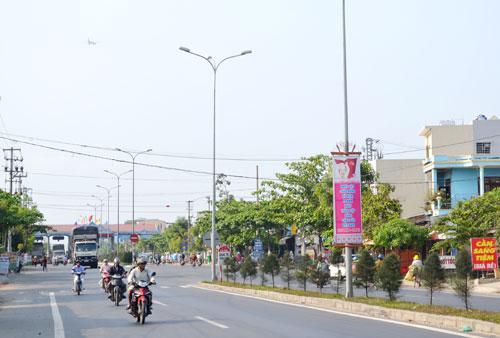Cửa ngõ phía bắc Điện Bàn tiếp giáp Đà Nẵng qua quốc lộ 1.Ảnh: CÔNG TÚ