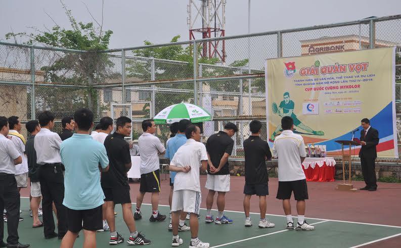Giải Quần vợt thanh niên Sở VH-TT&DL mở rộng năm 2014 góp phần tạo sân chơi cho phong trào