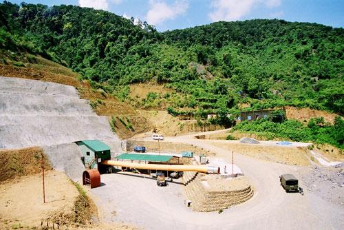 Một góc mỏ vàng Bồng Miêu.