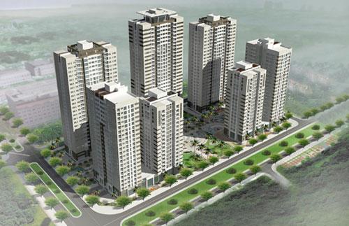 Phối cảnh cụm nhà ở hỗn hợp tại Lô B3 Khu đô thị mới Nam cầu Trần Thị Lý - TP. Đà Nẵng do công ty làm chủ đầu tư.