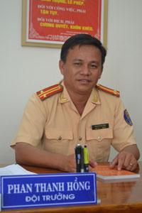 Trung tá Phan Thanh Hồng. Ảnh: C.T