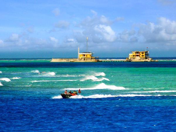 Đảo Đá Lớn thuộc quần đảo Trường Sa (Việt Nam). (Ảnh: Trọng Đạt/TTXVN)