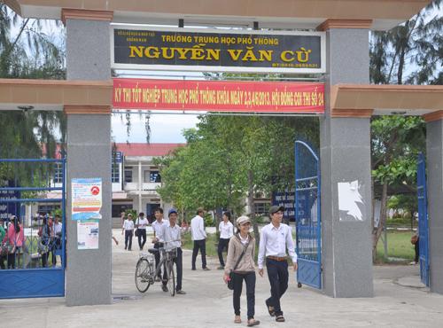 Trường THPT Nguyễn Văn Cừ (Quế Sơn).Ảnh: X.PHÚ
