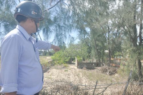 Khu đất quy hoạch khu dân cư Hà My Đông A đang xảy ra tranh chấp giữa hộ bà Nguyễn Thị Xin và chính quyền địa phương. Ảnh: H.G
