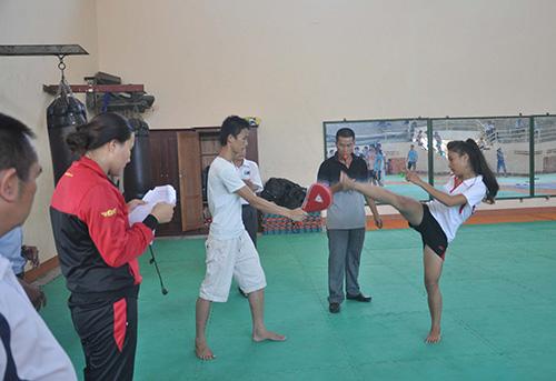 Kiểm tra tuyển sinh bộ môn Karatedo.