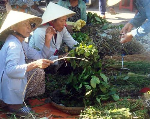 Những cây lá mồng 5 là mặt hàng không thể thiếu vào dịp Tết Đoan ngọ.
