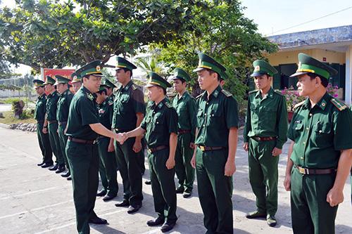 Thiếu tướng Nguyễn Tiến Thắng thăm, kiểm tra đồn Biên phòng Cửa Đại, BĐBP tỉnh Quảng Nam