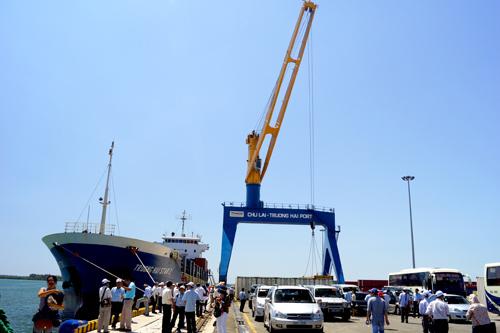 Phát triển Khu công nghiệp cảng và hậu cần cảng Chu Lai - Trường Hải sẽ giúp Thaco tạo sự chuyên biệt và hiệu quả.Ảnh: PHƯƠNG THẢO