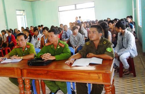 Tiên Cảnh đẩy mạnh công tác tuyên truyền phòng chống tệ nạn ma túy cho thanh thiếu niên. Ảnh: N.H