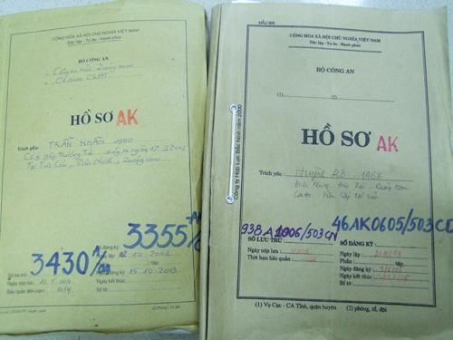 Hồ sơ vụ án các đối tượng Huỳnh Rô và Trần Nhân.