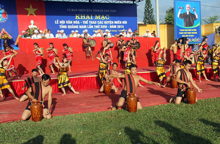 An art performance of North Tra My district in the opening cermony