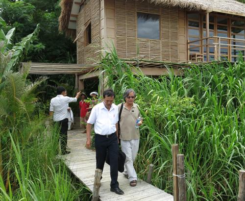 Khu du lịch nhà vườn Triêm Tây của KTS. Bùi Kiến Quốc.Ảnh:T.PHONG