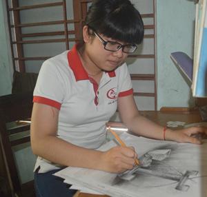 Thủ khoa ngành kiến trúc Huỳnh Thị Mỹ Linh.