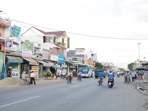 thị trấn Nam Phước hiện nay. ảnh: T.D