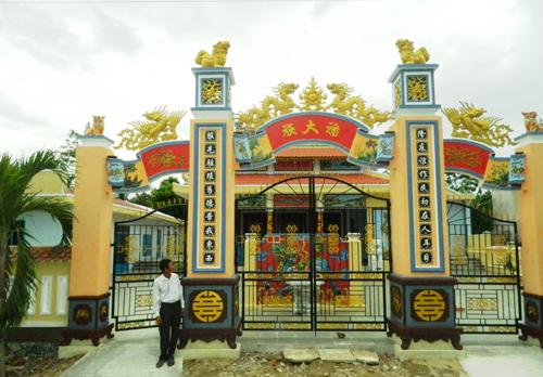 nhà thờ tộc Phan làng Bảo An. Tộc họ là điểm sáng góp phần xây dựng nên nhiều phong trào ở Điện Quang.        Ảnh: L.Q