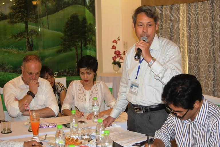 Ông Lương Đình Đường, Phó Cục trưởng Cục Thuế Quảng Nam tại cuộc họp báo.