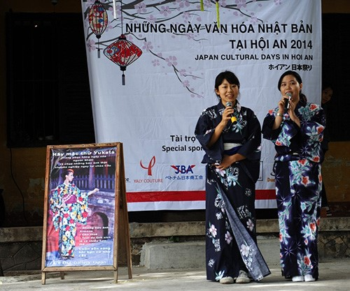 A series of Japanese cultural activities in Hoi An city.