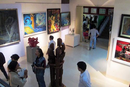 Một góc không gian trưng bày triển lãm. Ảnh: Nguyễn Dũng