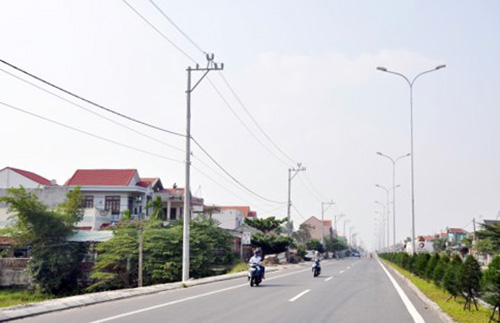 Lưới điện Điện Bàn ngày càng khang trang, đáp ứng yêu cầu phát triển kinh tế - xã hội của địa phương.Ảnh: B.V.P