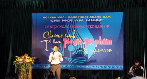 Đêm nhạc Kỷ niệm Ngày Âm nhạc Việt Nam tại Hội Văn học – nghệ thuật tỉnh.