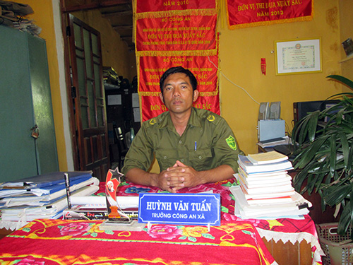 Trưởng Công an xã Duy Vinh - Huỳnh Văn Tuấn. Ảnh: PHƯƠNG NAM